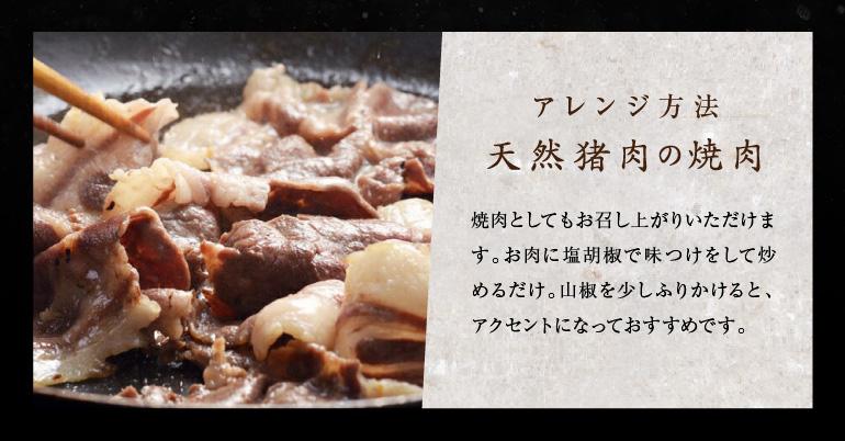 天然猪肉の焼肉